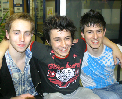 from left to right: Elliot Hilton, Alex Wilde and David Richardson